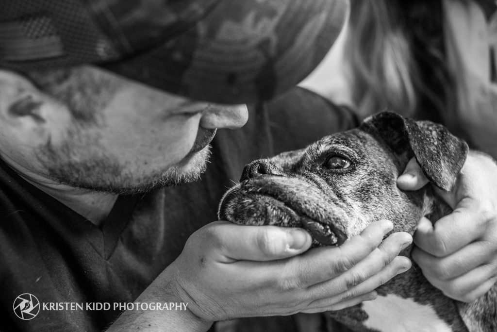 veteran and his dog photo session