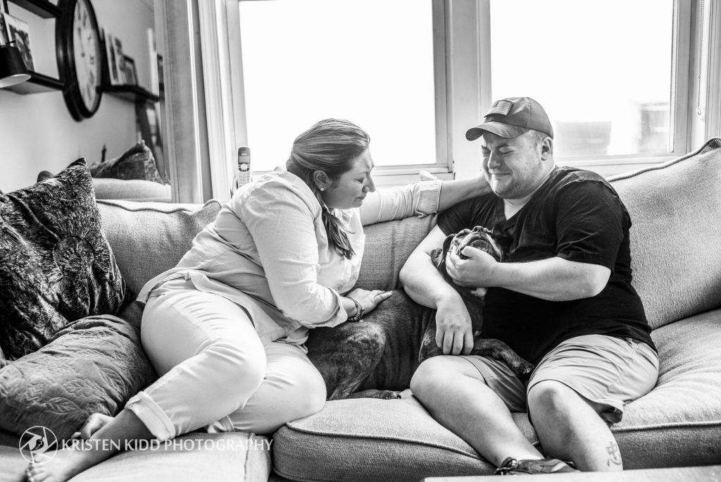 pet end of life session with Kristen Kidd Photography
